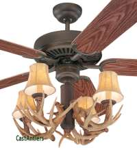 "Outdoor Lighting | 42"" Antler Indoor/Outdoor Ceiling Fan ..."
