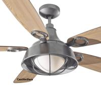 """Outdoor Lighting   52"""" Cage Downlight Rustic Ceiling Fan ..."""