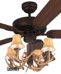 """Standard Size Fans   52"""" Lodge 4-Light Antler Ceiling Fan ..."""