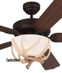 """Standard Size Fans   52"""" Rustic Dakota Faux Antler Ceiling ..."""