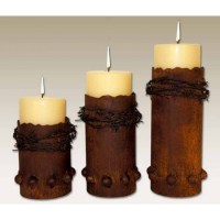 Barbed Wire Candle Holders - Rustic Western Decor