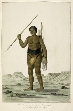 Boschman living in the Roggeveld [Rogefeldt], at the Cape of Good Hope