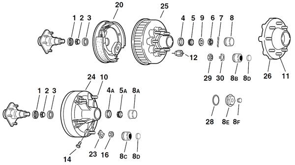 axles trailer brake wiring diagram wiring diy