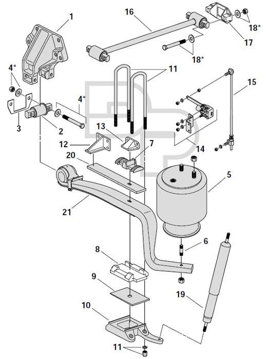 tractor trailer Motor diagram