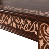 Bone Inlay Table: Hand Inlaid Bone Coffee Table AOI