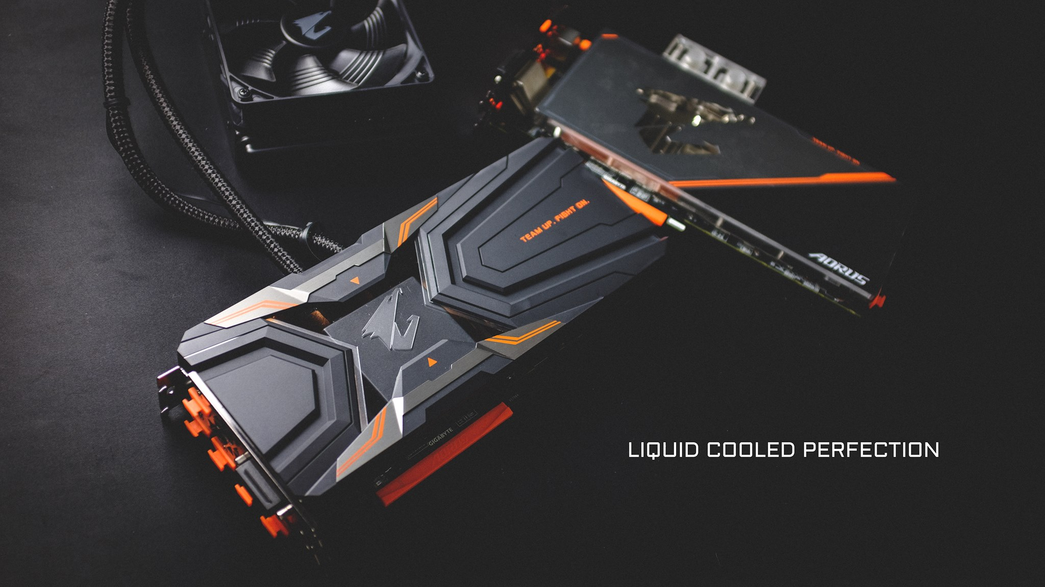 Rog Wallpaper Full Hd Two Liquid Cooled Aorus Geforce 174 Gtx 1080 Ti Graphics