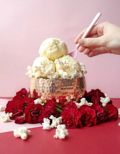 Buttered Popcorn Ice Cream (Crème Glacée au Popcorn Salé)