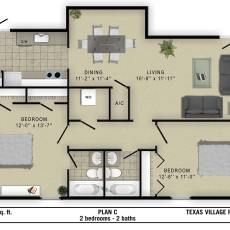 9075-gaylord-floor-plan-c-955-sqft