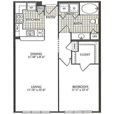 2222 Smith St Enlightenment Floorplan 1-1 723 sqft
