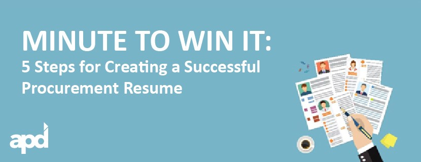 Minute to Win It 5 Steps for Creating a Successful Procurement