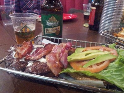 Avocado Club Burger &amp; Summit Pilsner