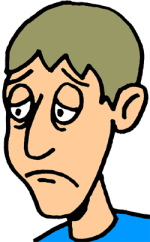 Sad Person Clip Art