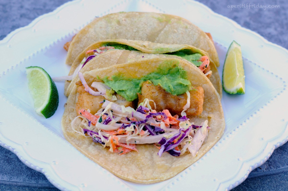 Gluten free fish tacos with avocado sauce and cilantro for Is fish sauce gluten free