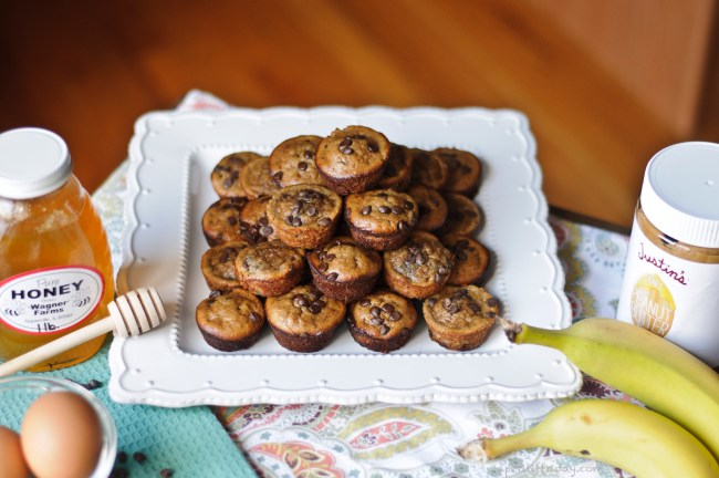 Peanut Butter Banana Mini Muffins2