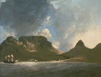 A view of the Cape of Good Hope, taken on the Spot, from on board the Resolution, Capt. Cook. (1772) By William Hodges Wikimedia Commons