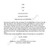 The Life of Carlotta Du Pont (1723)