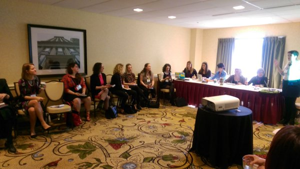 "Rethinking the Conference"" reconfigures the room as a circle so we can all interact. Photo courtesy of Mattie Burkert."