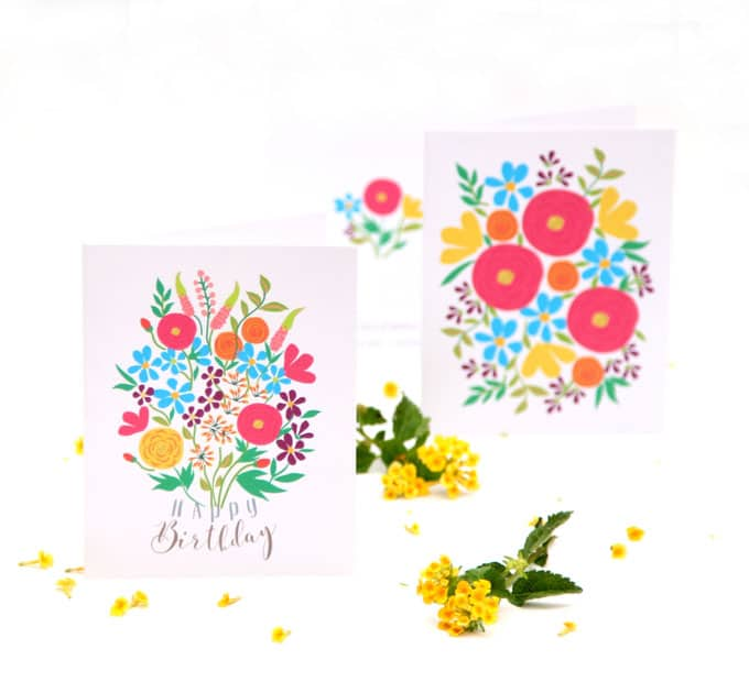 Free Printable Flower Greeting Cards - A Piece Of Rainbow