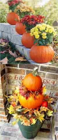 25 Splendid Front Door DIY Fall Decorations