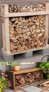 15 Amazing Firewood Rack & Best Storage Ideas! - A Piece ...