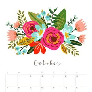Free Desktop Wallpaper Scripture Fall Printable October 2018 Calendar Monthly Planner Floral