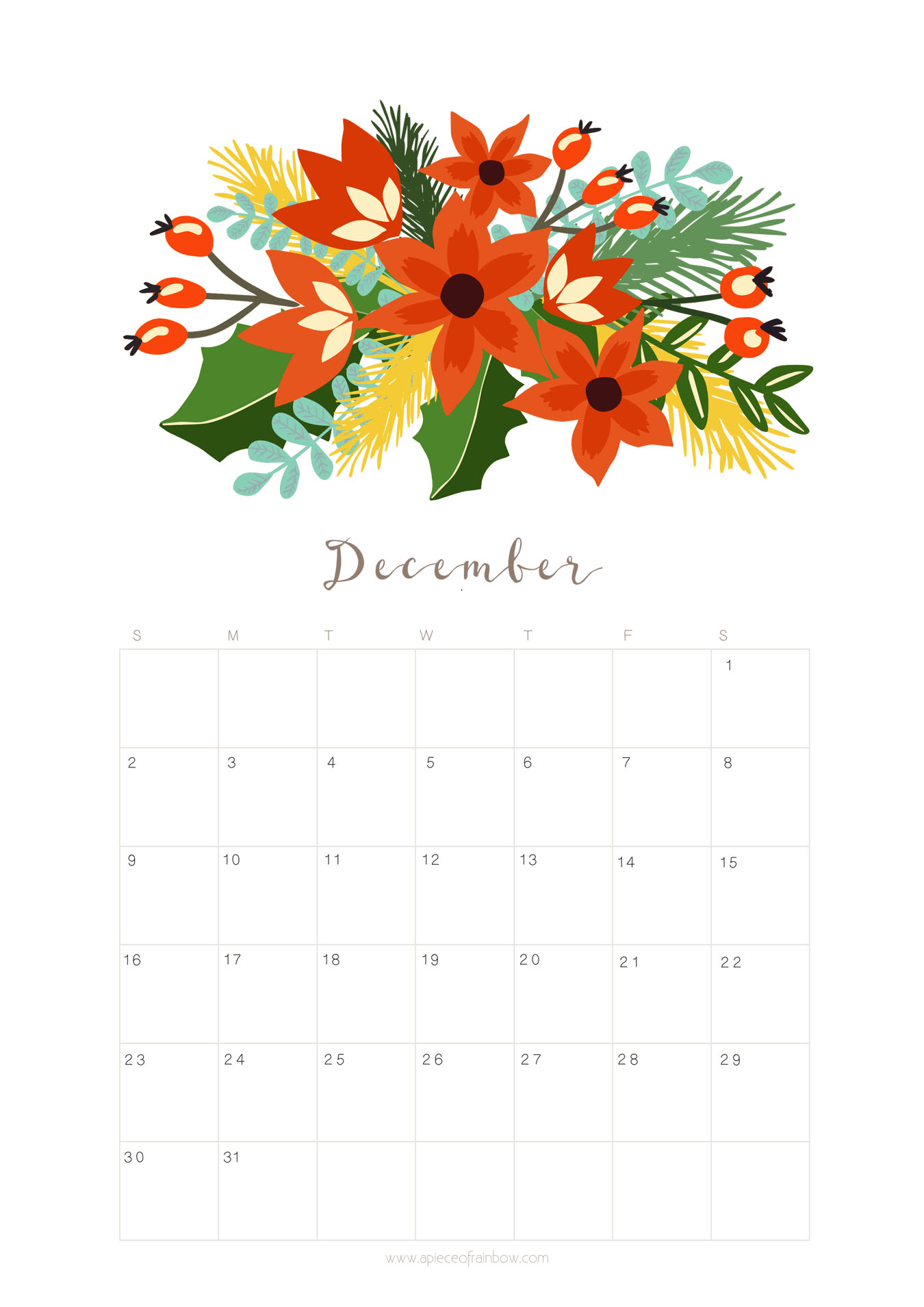 Cute Lovely Wallpapers With Quotes Printable December 2018 Calendar Monthly Planner Floral