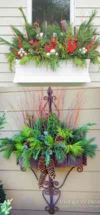 24 Colorful Outdoor Planters for Winter and Christmas ...