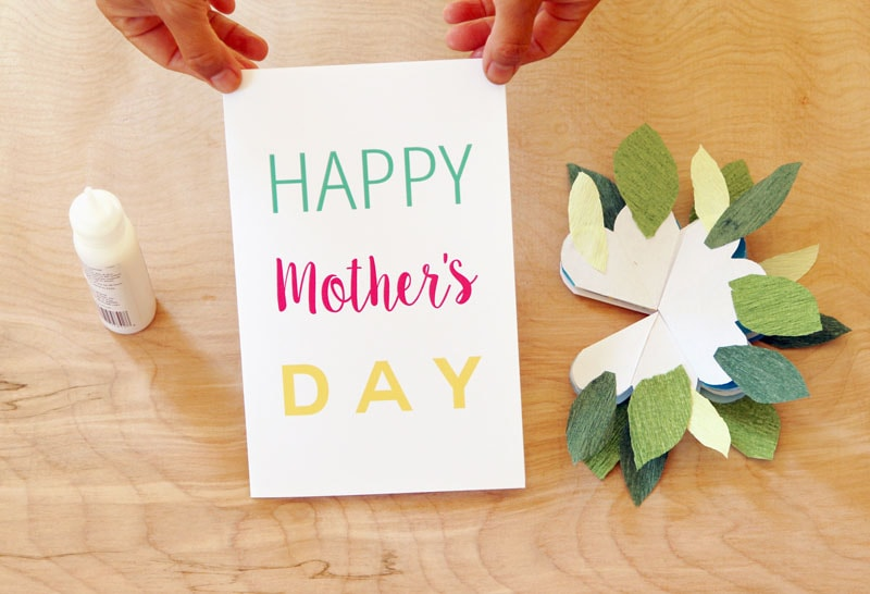 Pop Up Flowers DIY Printable Mother\u0027s Day Card - A Piece Of Rainbow - mother sday cards