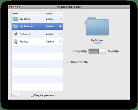 Secret Folder for Mac Screen Shot
