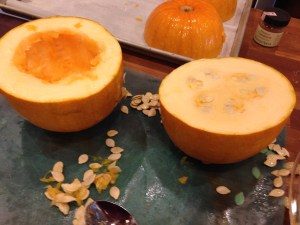 Pumpkin cut in half/apinchofluv.