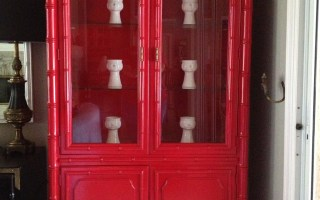 Pins I've Tried… again: Bamboo China Cabinet Makeover