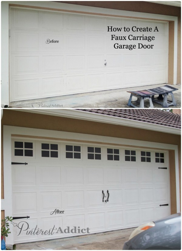 Creating a faux carriage garage door for Faux carriage garage door