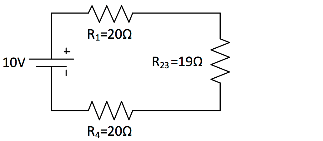 here is a schematic of a simple series circuit