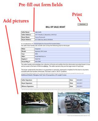 Boat Bill of Sale - Watercraft