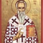 Sfantul sfintit Mucenic si Apostol Iacov, ruda Domnului, primul episcop al Bisericii asezat de insusi Domnul Hristos si cel ce a scris randuiala Sfintei Liturghii