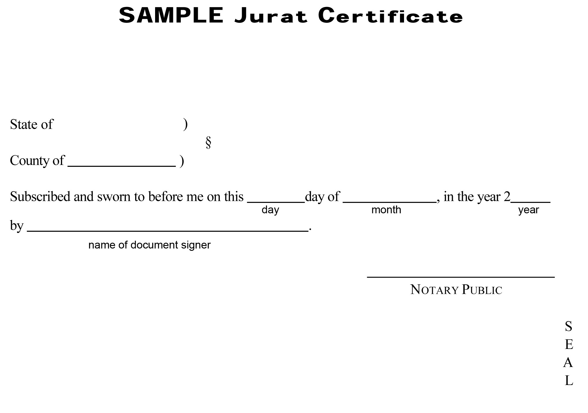 Experience Letter Notarized | Sample Resume Service
