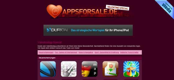 Valentinstag auf AppsForSale.de: vieda verrät die Namen der 80 iPhone-Spar-Apps!