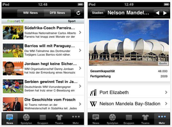 Screenshot iPhone App Pocket WM 2010