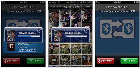 Screenshot Bluetooth Photo Share App für iPhone und iPod Touch
