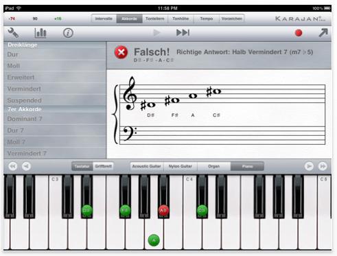 Screenshot iPad App Karajan Pro