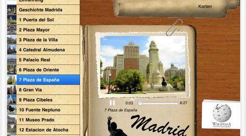 Kurztipp: Deutscher Audioführer (iPad) für die spanische Hauptstadt Madrid gerade kostenlos
