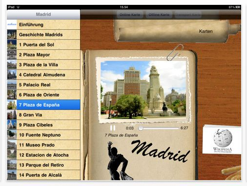 Screenshot Madrid Audioguide von Giracitta