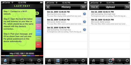 Texte vom Rechner auf iPhone und iPod Touch senden und zurück