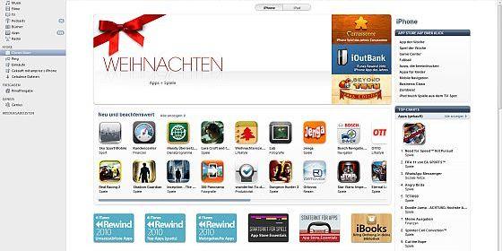 Kampf um die App-Charts in vollem Gange: Weihnachtsgeschenk iPhone, iPod und iPad und AppStore Weihnachtspause