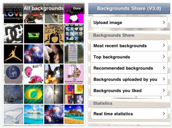 Background Share Screenshot