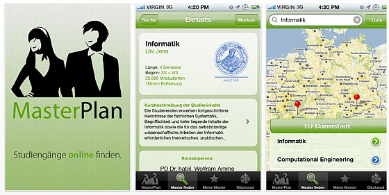 Masterplan iPhone App Screenshot