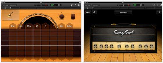 GarageBand für das iPad von Apple - Screenshot