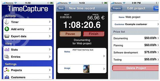 TimeCapture für iPhone Screenshot