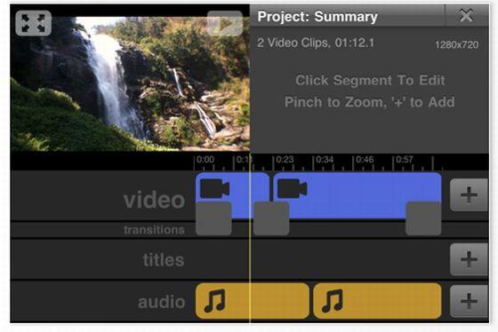 Vimeo Videobearbeitung auf dem iPhone