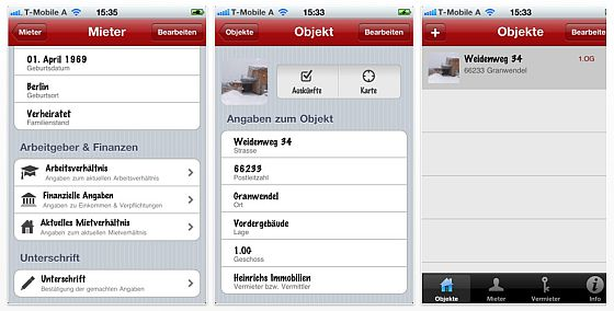 iSelbstauskunft iPhone App Screenshot